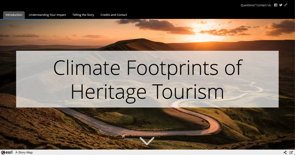 Climate Footprints of Heritage Tourism