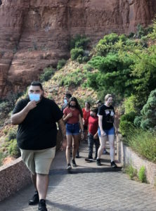 Tourists at the Chapel of the Holy Cross, Sedona.